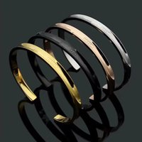 New T Bracelet Cuff Rose Gold Silver and Black Bangle 100% s...