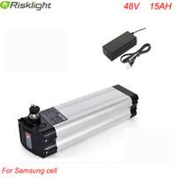 Qualitäts-48V 15Ah elektrische Fahrrad-Batterie Silver Fish 48V 15Ah Samsung-Zellen-Akku mit Aluminiumkasten + Ladegerät