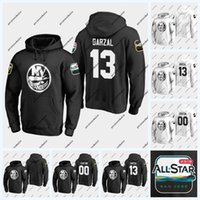 Mathew Barzal New York Islanders 2019 올스타 게임 까마귀 Scott Mayfield Leo Komarov Robin Lehner Josh Bailey Anders Lee Nick Leddy Jersey