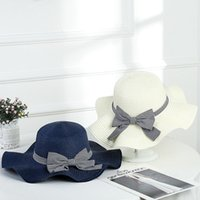 Outdoor Woman Sunshade Straw Hat Summer Female Bowknot Sunsc...