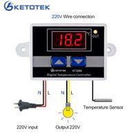 KETOTEK KT3000 Controlador de temperatura digital Termostato LED AC 110V 220V Interruptor de microcomputador regulador térmico