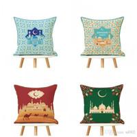 رمضان الديكور غطاء وسادة لون المزيج الطباعة فانوس القمر مسلم الإسلامية الديكور وسادة القضية المنسوجات المنزلية 4 5yl E1