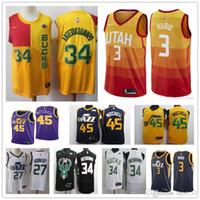 New Arrival. 2019 basketball ersey 34 Giannis Antetokounmpo 27 Rudy Gobert  45 Donovan Mitchell 3 Ricky Rubio stitched Mens Jerseys b7329c689
