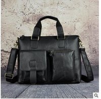 Wholesale- Mens Genuine Leather Antique Style Briefcases Bus...