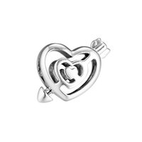 New Authentic 925 Sterling Silver Bead Charm Openwork Arrow ...