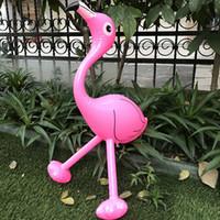 PVC gonfiabile flamingo palloncino gonfiabile a gambe lunghe animale fenicottero giocattolo per bambini giocattolo gonfiabile animale giocattolo palloncino regalo 56 cm