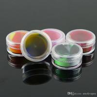 Antiadhésives 5ML circulaire cire style intégré Conteneurs Boîte silicone silicone Container outil Jars de qualité alimentaire Pot de rangement huile Holder vente chaude