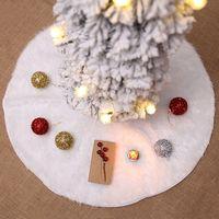 크리스마스 트리 치마 크리스마스 트리 장식 78분의 60 / 90 / 122cm 화이트 봉제 크리스마스 트리 장식 스커트 파티는 VT0583 용품