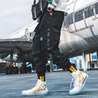 Мужчины хип-хоп штаны 2019 Люди Лоскутного Японского Streetwear бегуны Брюки Мужчина Дизайнер Harem вскользь Harajuku Sweatpants