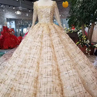 Floor Length Evening Dress Ball Gown Square Collar Long Slee...