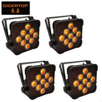 TP-G3039 4 Adet Uzaktan Kumanda Düz Akıllı UPLIGHT 9X15W 5in1 RGBAW LED Par Işık Demir Siyah Konut 25 Derece Lens Smooth Duvar Yıkama