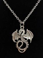 CALIENTE 5PCS / LOT plata antigua del dragón de vuelo / Pterosaur de los colgantes del encanto de la manera regalo de las mujeres joyería de los encantos de vacaciones joyas - 114