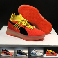 Designer CLYDE COURT Red Yellow Running Shoes Mens Trainers ...