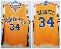 # 34 Kevin Garnett Farragut Amiraller Lisesi Retro Klasik Basketbol Jersey Mens Dikişli Özel Sayısı ve adı Formalar