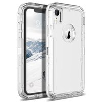 Transparenter Heavy Duty Defender Fall Stoßdämpfung Kristallklarer Fall für das iPhone XS Max XR 8 Plus Samsung Note9 S8 S9 S10 Plus Lite