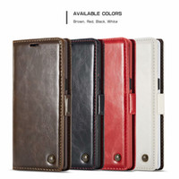 CaseMe003 Vintage Business Leather Wallet Case for Samsung S...