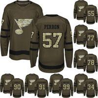 Binnington Robert Bortuzzo Colton Parayko David Perron Ryan O'Reilly Vladimir Tarasenko Wayne Gretzky Salute to Service Ice Hockey Jerseys