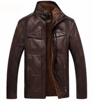 Moda-Jaquetas Homens Casacos Marca de Alta Qualidade PU Outerwear Homens de Negócios de Inverno Faux Fur Masculino Jaqueta de Velo Plus Size para Homens de Alta Qualidade Novo