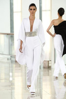 Hot Selling Sheer Plunging Neckline Sexy Runway Jumpsuit Eve...