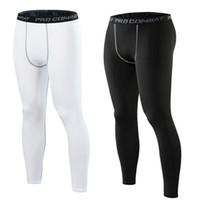 leggings de compression Fitness pour les hommes de sport collants pantalons course de basket-ball pantalon Legings hommes Legging pantalons de fitness en cours d'exécution