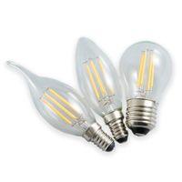 Super Bright LED Candela Bulb Bulb E1427 Luce bianca Lampada calda Energia Risparmio energetico per uso domestico Lampada da cristallo Pull Tail Supporta Bolla Fonte della luce