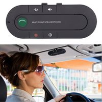 Manos libres Bluetooth 4.1 + EDR Receptor inalámbrico de música y audio Manos libres Bluetooth Car Kit Sun Visor Portátil Multipoin