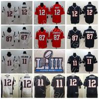 2019 Super Bowl LIII Man Football Elite Vapor Untouchable Patriots Rob  Gronkowski Jersey Julian Edelman Tom Brady Blue White Superbowl Patch 7fc490fd4