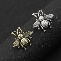 Vintage Bee Brooch Gold Silver 3. 2*2. 9cm Insect Mini Brooch ...