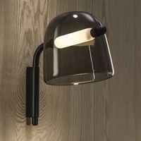 ما بعد الحداثة الزجاج الإضاءة الحديد تركيبات غرفة نوم السرير أدى الجدار مصباح الشمال الإبداعية فندق الممر دراسة أضواء غرفة المعيشة