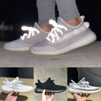 Kanye West Glow In The Dark Scarpe da corsa Clay Antlia Synth Lundmark True Form Static Reflective Hyperspace Sneakers Designer Sports Trainer