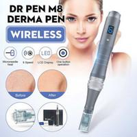 Os mais recentes dr caneta M8-W / C 6speed MTS com e sem fios microagulha derma fabricante caneta micro agulhamento dermapen sistema terapia