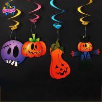 Halloween Indoor Dekorieren Kürbis Wind Hexe Geist Teufel Lahuahua Kaninchen Hebeplatz Layout Rolle Seide Anhänger 0 88wy k1