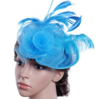 Ocasión formal de las mujeres sombreros de fiesta de boda para la tarde sombrero especial de vestir para señoras sombreros nupciales del pelo Accesorios Pluma Sombrero