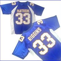 Freitag Nachtlichter Tim Riggins # 33 Dillon High School Fußballtrikot Genähtes, genähtes Herren-Trikot
