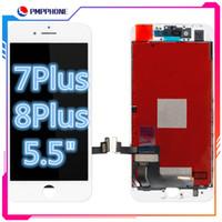 iPhone 7 Artı 8 Plus LCD 3D Dokunmatik Ekran Display Sayısallaştırıcı Meclisi Ücretsiz Kargo için Yüksek Kaliteli 5.5 inç LCD
