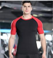 Spor Casaul Basketbol Sportwear Erkek Giyim Yaz Erkek Spor Hızlı Kuru Tişörtü Pro Kısa Kollu Patchwork Tees İnce