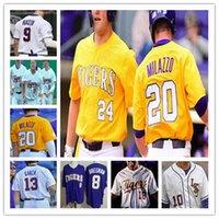 Personalizado LSU Tigers Colégio 17 Aaron Nola 8 Alex Bregman 5 de Drew Bianco 26 AJ Labas 18 Cole Henry Hal Hughes Baseball Jerseys