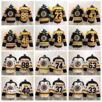 Boston Bruins Hockey 88 David Pastrynak Jersey 33 Zdeno Chara 37 Patrice Bergeron 63 Brad Marchand 40 Tuukka Rask David Krejci