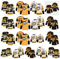 Pittsburgh Penguins Jersey 87 Sidney Crosby Jersey 58 Kris Letang 59 Jake Guentzel 66 Mario Lemieux 71 Evgeni Malkin Estádio Hockey Series