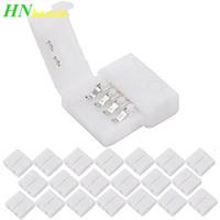 Haoxin 10mm 4pin 9mm 2-poligen Schnell LED-Streifen Steckverbinder freies Schweißen Stecker-Adapter-Clip für 3528 5050 RGB-Farben-LED-Streifen-Licht