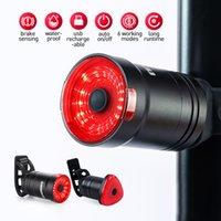ضوء LEADBIKE الاستشعار الفرامل للدراجات السيارات بدء / إيقاف الدراجة الخلفية IPX6 للماء LED USB شحن الدراجات الضوء الخلفي