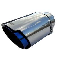 سيارة عالمية Akrapovic الفولاذ المقاوم للصدأ العادم طرف مع الفضة أو المحترقة الأزرق اللون أنابيب نهاية ل bmw benz audi vw أجزاء الغولف