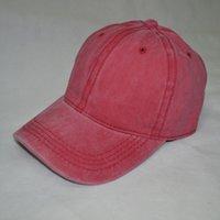 2020 도매 유럽과 미국의 새로운 씻어 목화 모자 순수한 컬러 모자 모자 남성 단일 색 조명 플레이트 야구 모자 여성