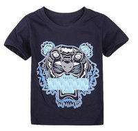new 2020 Summer T Shirts For Boy Girl Tops Tiger Head Letter...