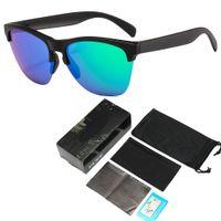أحدث مصمم النظارات الشمسية العلامة التجارية F الجلد الاستقطاب النظارات الشمسية العلامة التجارية النظارات الشمسية الرجال والنساء مع حقيبة والمربع عالية الجودة