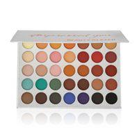 Paleta de maquiagem Beleza Paleta de sombra vitrificada 35 cores Impressionado Você Paleta de sombra brilho da sombra vitrificada marca Cosméticos