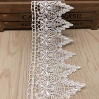 Dikiş Düğün Elbise Kız Etekler Aplike DIY Craft LB040 için Suda Çözünen İşlemeli Dantel Trims Polyesetr Dantel Şerit