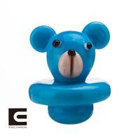 Стеклянный карбюратор крышка медведь стиль для кварца тепловой P Banger ногти Dabber стеклянные бонги Dab буровые вышки