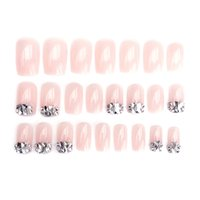 24Pcs Drill Wedding False Nails Acrylic UV Gel Full Fake Nai...