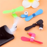 Portatile 3 2 in 1 Mini Micro Fan USB da Smartphone Cell Phone Phone Fans Cool Cooler Hand-Handled per Android Tipo C Lones